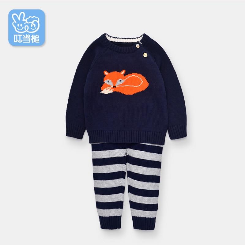 Dinstry spring and autumn children's clothing baby underwear set children's spring clothes infant clothing  cartoon long sleeve dinstry spring
