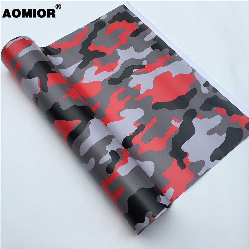 Red camo vinyl wrap (7)