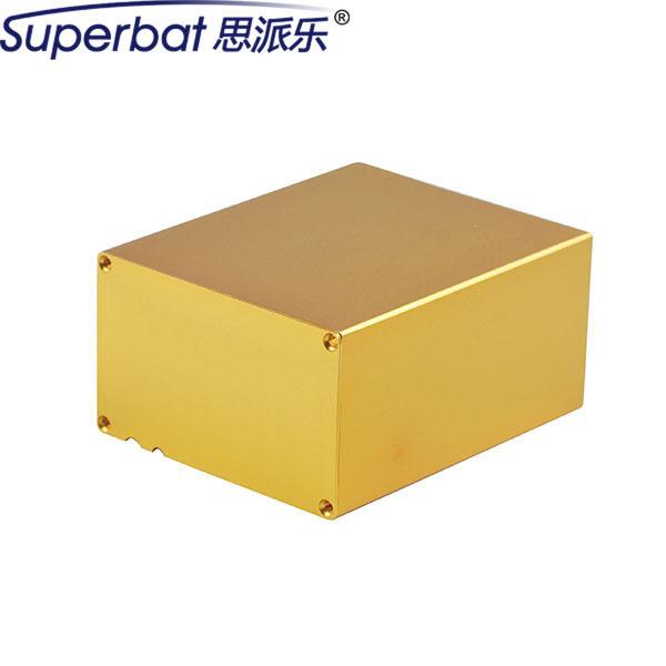 """Superbat 100x83x50.5 MM de Oro De Aluminio Extruido Proyecto Electrónico Caja Unidad De Potencia PCB Instrumento Caja de BRICOLAJE 3.94 """"* 3.27"""" * 1.99"""""""