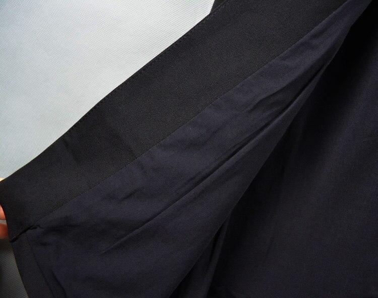 Hommes Survêtement 2016 Vêtements De Cardigan Mode Moyen Chanteur long Noir Zipper Costumes Mince Irrégulière Personnalité Gilet RqUqwH