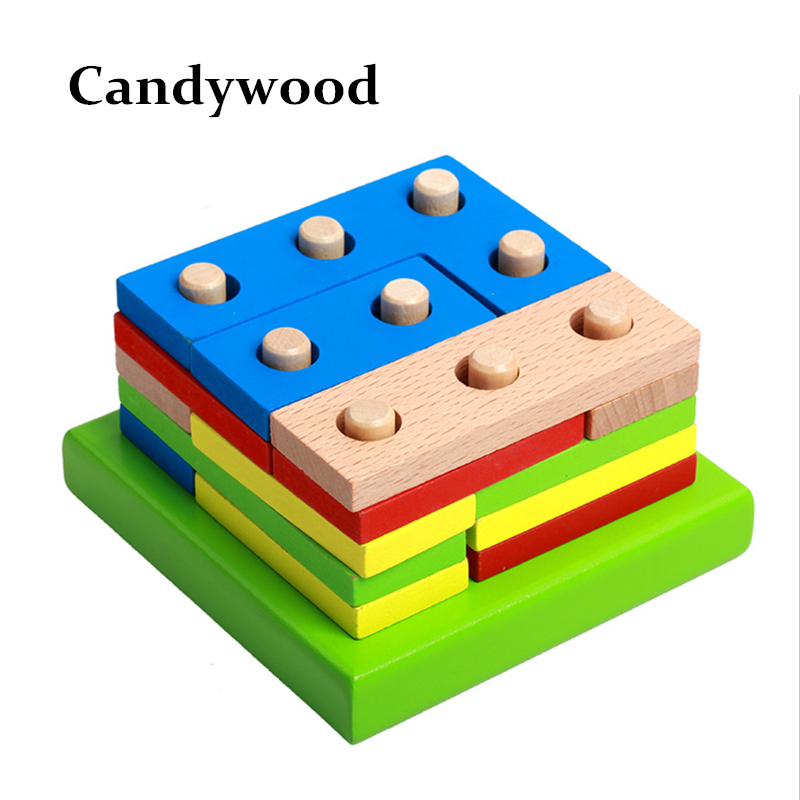 Baby Wooden Toys Montessori Education Toys Geometry