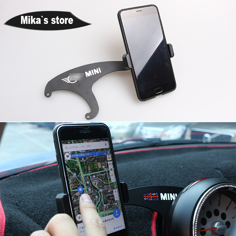 Auto Interior Accessories Bracket Auto Mount Stand Moblie Phone Holder For MINI COOPER F55 F56 F54 Car styling-in Car Stickers from Automobiles & Motorcycles