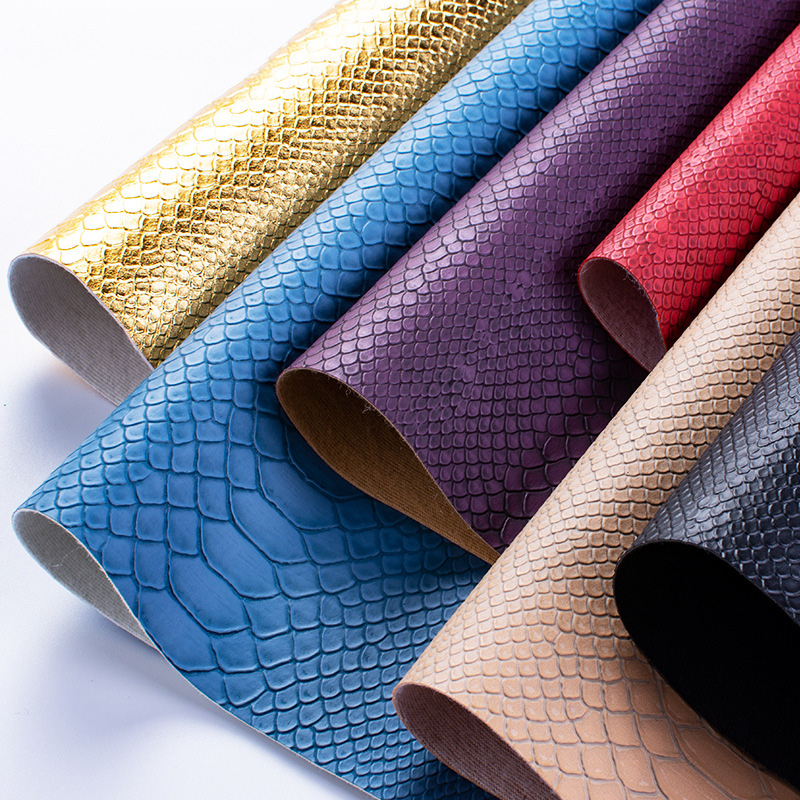 25cm*34cm PVC Snake Leather Fabric Synthetic Leather For DIY Handmade Sew Clothes Accessories Supplies