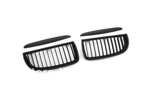Replacement Euro Style Matte Black Front Grille For BMW E90 05-08 pre-facelift 3 Series