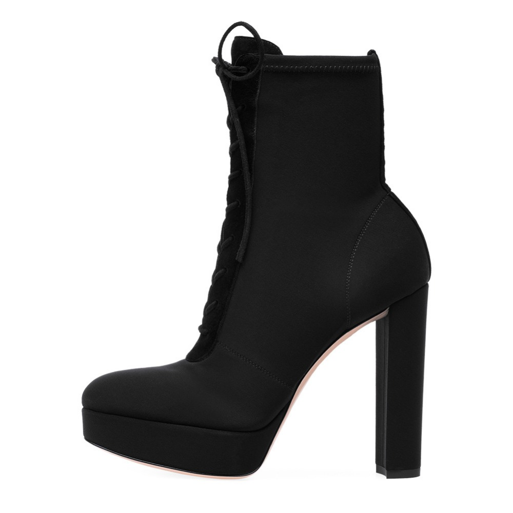 women gladiator boots lace up platform boots black Thick heel ladies shoes high heels ankle boots for women winter riding shoes lace up boots 2018 fashion thick heel ankle boots women high heels autumn winter woman shoes black boots platform shoes yma62