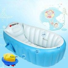 цена на Portable bathtub inflatable bath tub Child tub Cushion Warm winner keep warm folding Portable bathtub With Air Pump Free Gift
