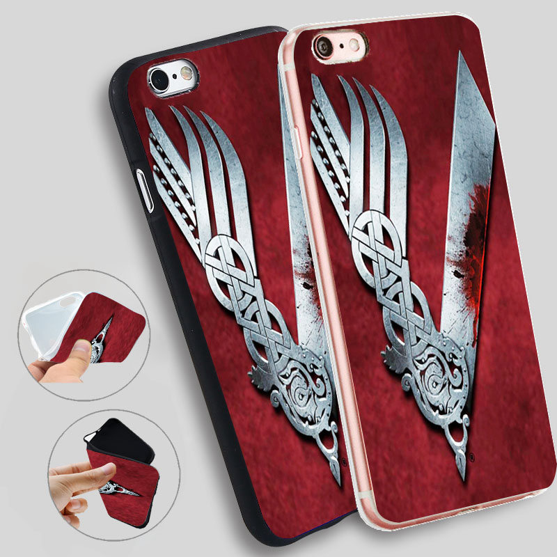 Minason Vikings Serie Silicone Cases For iphone 7 7plus for iphone 8 5s 5 SE 6 s 6s 6/7/8 plus X TPU Phone Case