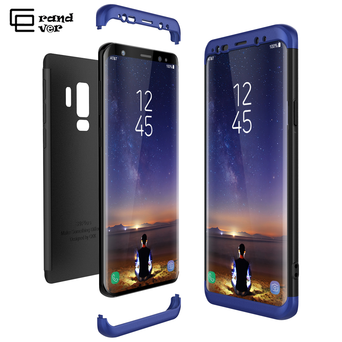 Luxury <font><b>Hard</b></font> PC <font><b>Case</b></font> For <font><b>Samsung</b></font> Galaxy S6 S7 Edge S8 S9 Plus Note 8 <font><b>Case</b></font> <font><b>A5</b></font> A7 A8 Plus 2018 Coque 3 in 1 360 Full Body Cover image