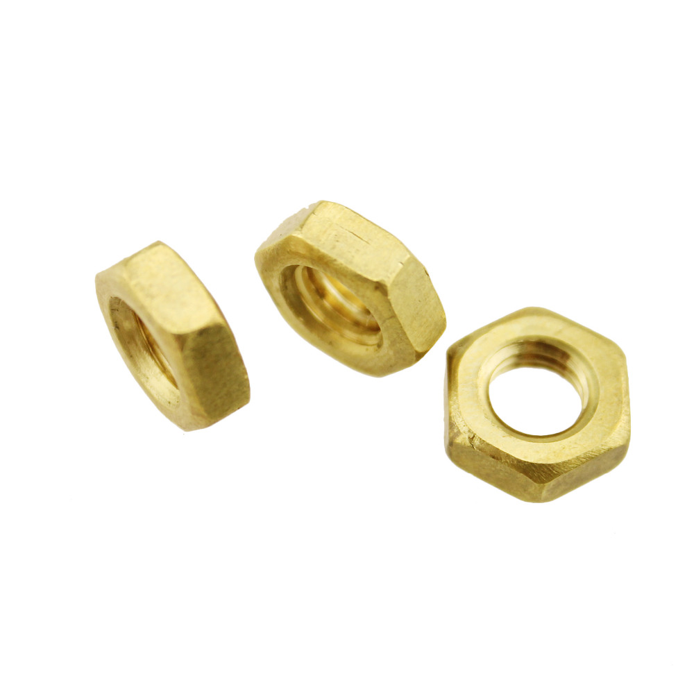 Slotted Castle Nuts 1 pcs Brass 3//4-10
