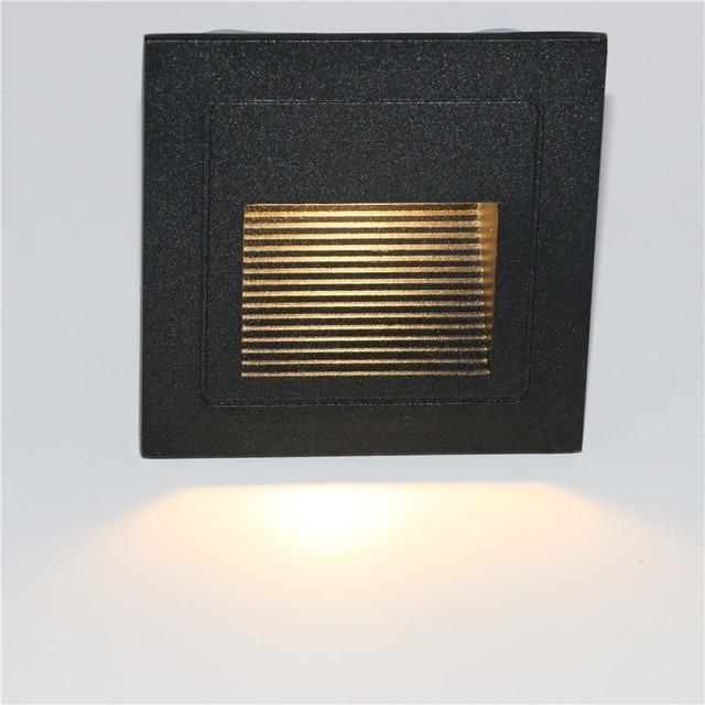 10 stks 3 w led Trap Licht met Embedded box Aluminium Stap Lichten Outdoor Waterdichte IP65 LED Wall Lamp Footlight PRO 04