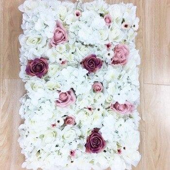 2018 April New Design 2pcs/lot white blush pink mixture  flower backdrop flower wall wedding event decoration