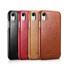 Image 5 - ICARER Luxury Vintage Genuine Leather Case For iPhone XR High Quality Handmade Flip Cover For iPhone XR Retro Leather Case