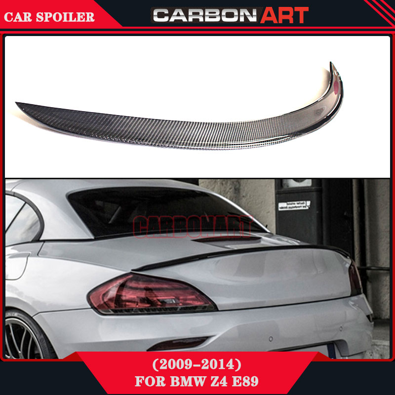 For Bmw Z4 E89 3D Design Carbon Fiber Rear Wing Spoiler Rear Bootlid Windshield Spoiler 2009 2014