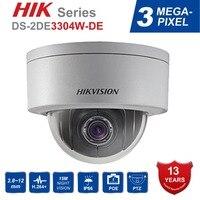 Hik оригинальный PTZ IP Камера DS 2DE3304W DE 3MP Сеть мини купольная безопасности Камера 4X 2,8 ~ 12 мм Оптический зум Поддержка P2P удаленного просмотра