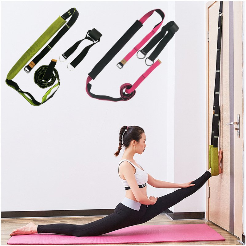Unisex Long Portable Yoga Rope Polyester Cotton Adjustable D-Ring Gym Waist Leg Fitness Dance Training Door Card Yoga Belts