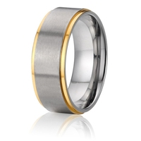 new arrival custom tailor handmade anti allergic titanium jewelry 8mm mens wedding bands