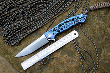 Y-START Dmitry Sinkevich flipper folding knife D2 blade TC4 Titanium camping hunting pocket fruit knives EDC tools