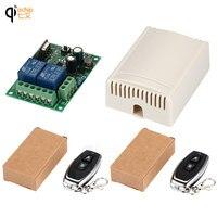 433 мГц Универсальный беспроводной пульт дистанционного управления AC 220V 110V релейный ресивер В в 2CH 120 модуль и 2 шт. RF 433 мГц МГц пульт дистанцио...