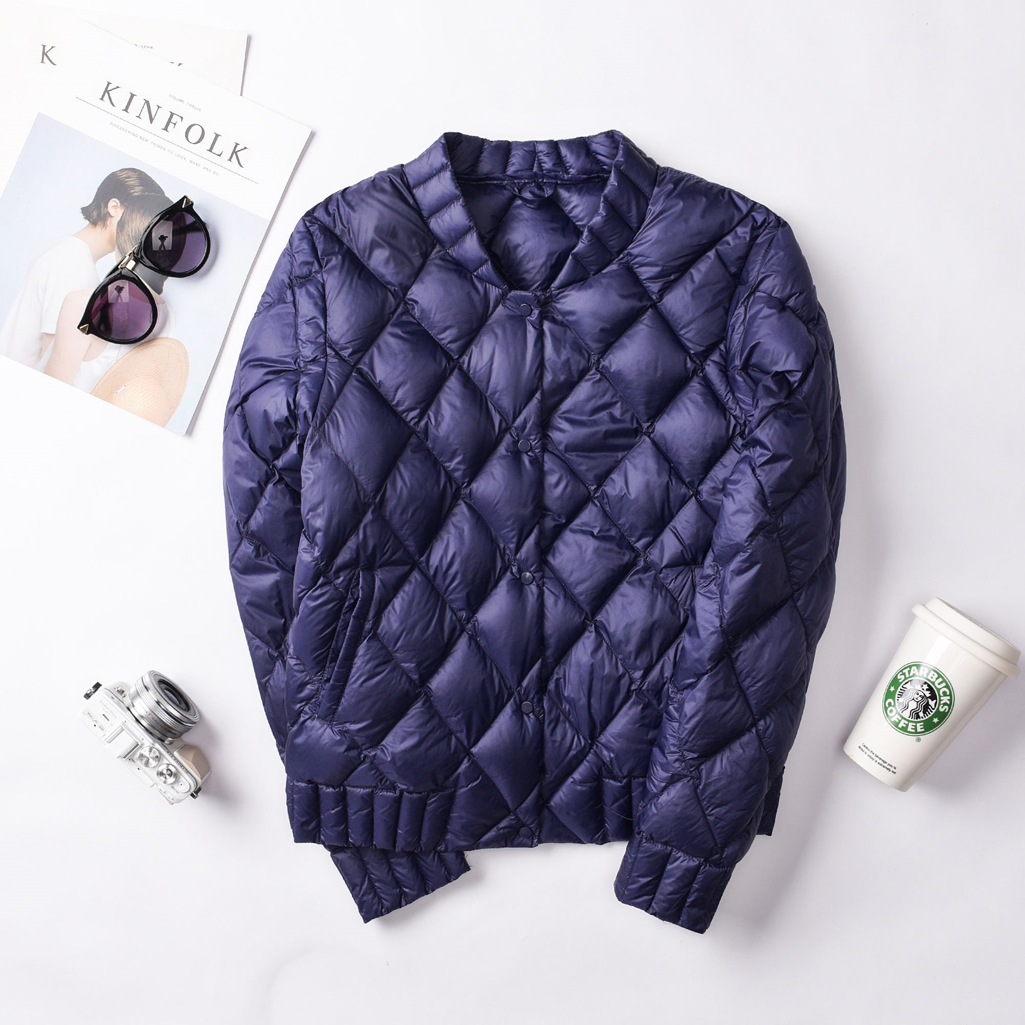 Ailegogo New 2019 Autumn Winter Ultra Light White Duck Down Jackets Women Plus Size 3XL O Neck Coat Slim Short Warm Down Coats