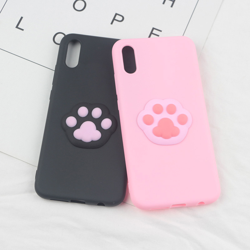 3D Cute Foot Case For Motorola Moto G7 Power X4 G3 G4 G5S G6 Play E4 Euro E5 E6 One Action/Vision Footprint Pet Cartoon TPU Case