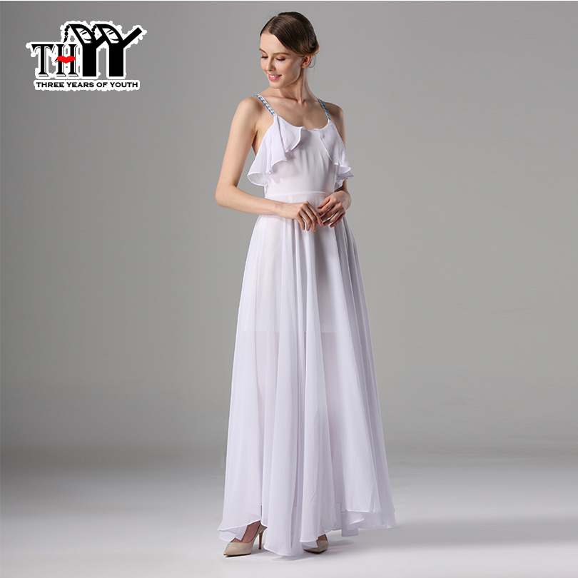 Summer pure Women Beach Dress vacation large Party Dess suspense High quality Chiffon Dress Long Maxi Dress Vestido de festa