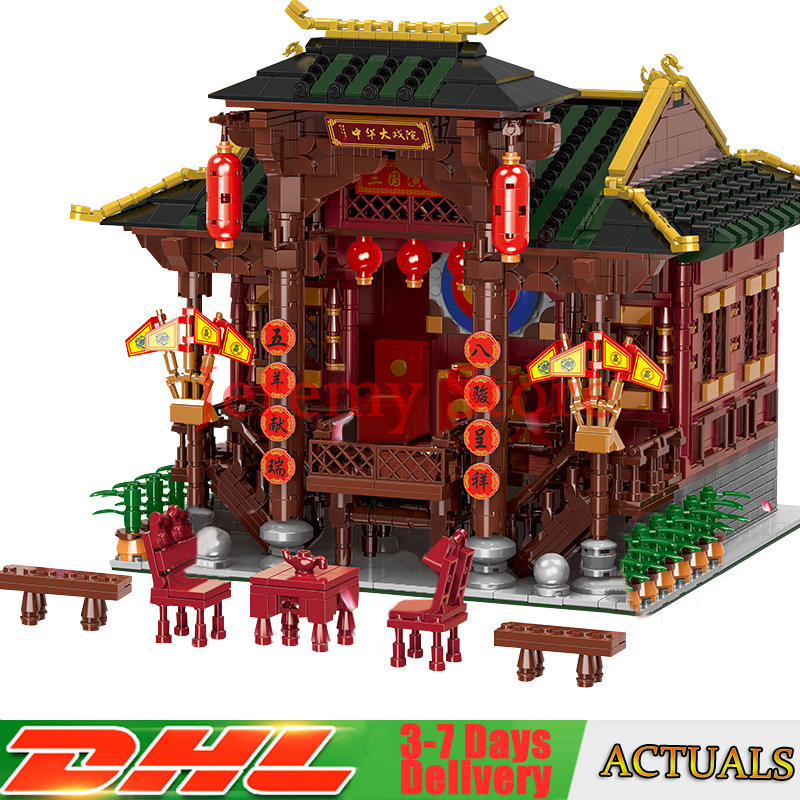 Xingbao 01020 Classic Traditional Chinese Peking Opera Stage Compatible with Legoing City Building Blocks Bricks 3820 Pieces 8 pieces set china postage used stamps 1980 t 45 peking opera facebook