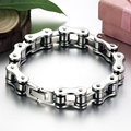 Free Shipping wholesale stainless steel men jewelry silver bicycle chain cool men's bracelets & bangles fashion gifts LGS3136B