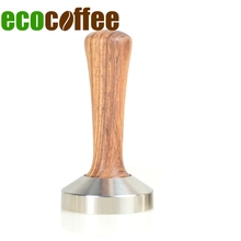 Ecocoffee High Quality Rosewood Handle Coffee Tamper 58MM 304 Stainless Steel Espresso Tampers 49/51/53/57/58MM Barista Tools