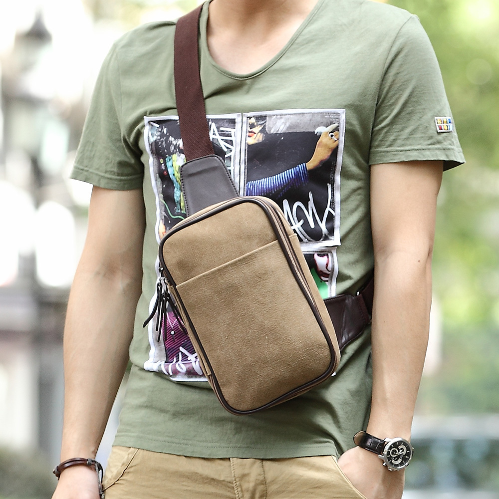 Aliexpress.com : Buy Canvas men chest pack camera sling bag bolsa ...