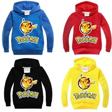 2017 Fashion New Children's Cartoon Hoodie Sweater Cotton Long-sleeved T-shirt Black/Red/Yellow/Blue Colors Children Clothing