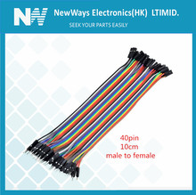 40pcs/lot 10cm 40PIN 2.54mm dupont cable jumper wire dupont line male to female dupont line(China (Mainland))