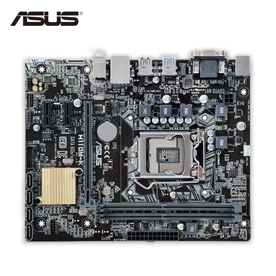 Original New Asus H110M-K Desktop Motherboard H110 Socket LGA 1151 i7 i5 i3 DDR4 32G SATA3 USB3.0 Micro-ATX biostar new motherboard h110mh pro d4 for intel lga i3i5 i7 7700 6600 6700 7500 k cpu micro atx 1151 ddr4 32g computer mainboard