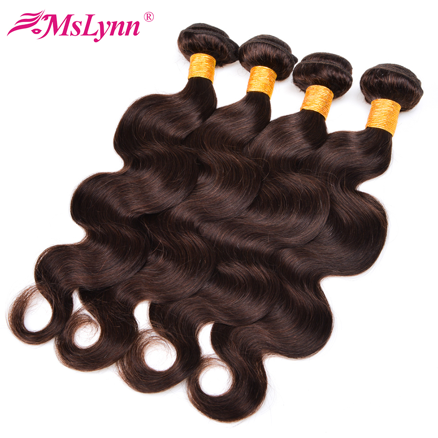 Mslynn Hair Peruvian Body Wave 4 Bundle Deals Human Hair Weave