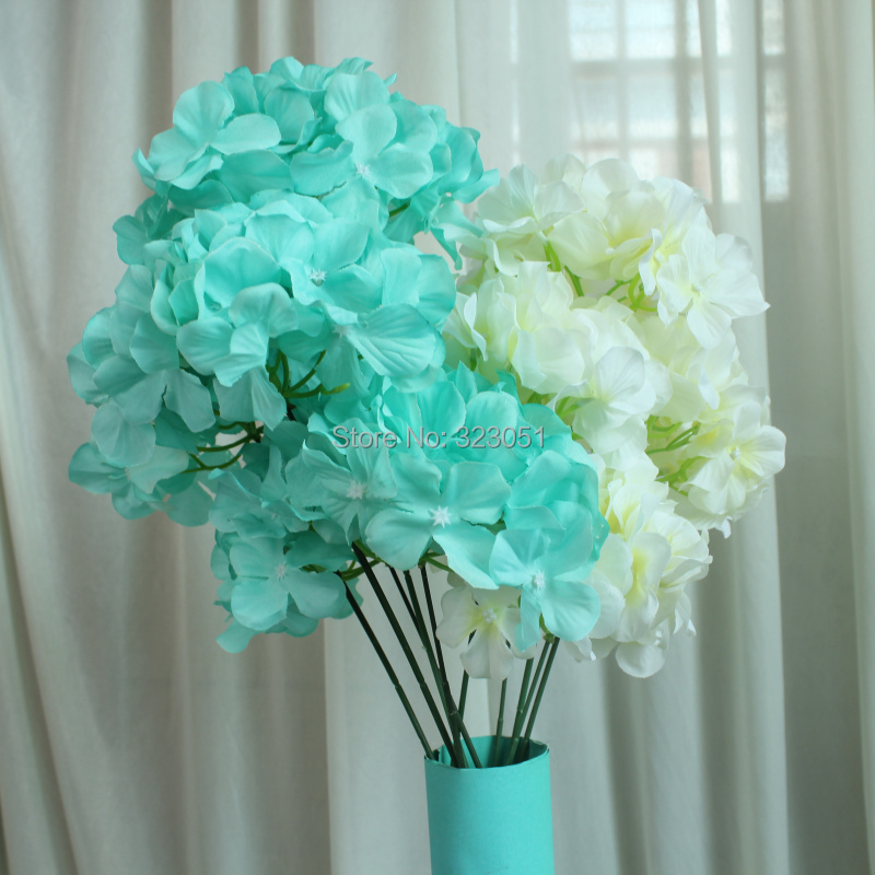 fake flowers in bulk for weddings blue 5 hydrangea flower silk flower wedding 3991