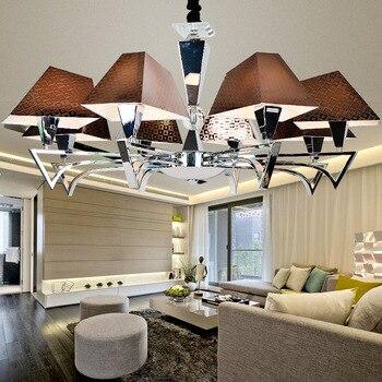 Candelabro de cristal LED accesorios de decoración para el hogar lámpara colgante de techo nórdico iluminación suspendida dormitorio moderno luces colgantes