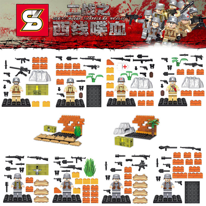 Popular Lego Soldiers World War 2-Buy Cheap Lego Soldiers World ...