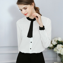 Autumn Female Work Pink White Shirts For Women