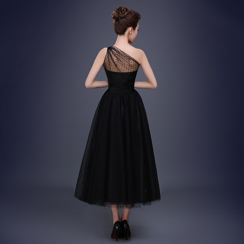 0effabb0c9c97 new one shoulder black prom dress long women dress for party graduation  plus size 16 customized dress-in Prom Dresses from Weddings   Events on ...