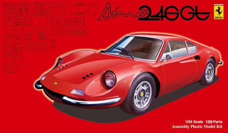 Dino 246GT Super car automobile Assembly model 1/24 Toys