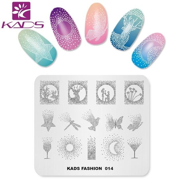 KADS New Arrival Fashion 014 Nail Art Stamping Plates Manicure ...