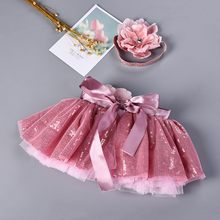 Baby Tutu Party Dance Ballet Girls Kids Bling Costume Skirt+Floral Headband Set tutu skirt girls skirts rainbow skirt(China)