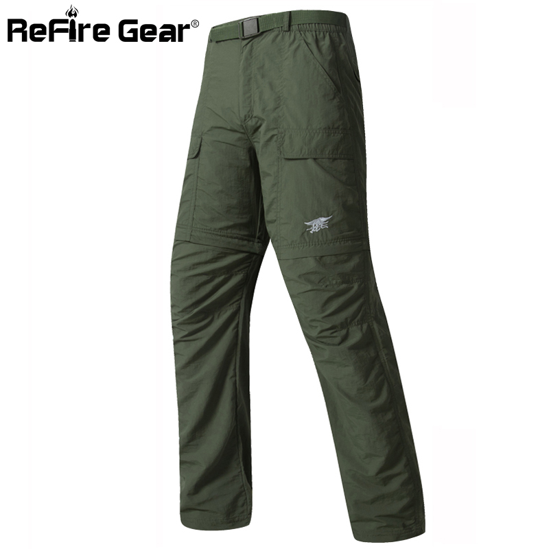 Navy Seal Tactical Army Camouflage Detachable Pants Men Quick Dry Breathable Military Pants Removable Leg Two Parts Man Trousers