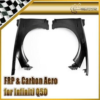Car-styling Đối Với Infiniti Q50 FRP Sợi Thủy Tinh EAU Style Front Huyệt Fender Sợi Thủy Tinh Wheel Đuốc Bộ Cơ Thể Tự Động Racing Vòm Trim