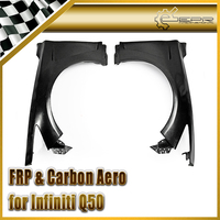 Car Styling For Infiniti Q50 FRP Fiber Glass EAU Style Front Vented Fender