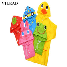 VILEAD Cartoon Oxford Raincoat for Children Baby Waterproof Rain Poncho Boy Girls Coat Student Gear Cute Suit