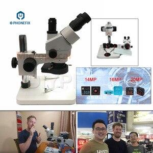 Image 3 - 3.5X 90X Simul Focale Trinoculare Stereo Microscopio Zoom Verticale con HDMI VGA Microscopio Della Macchina Fotografica per PCB Saldatura di Riparazione