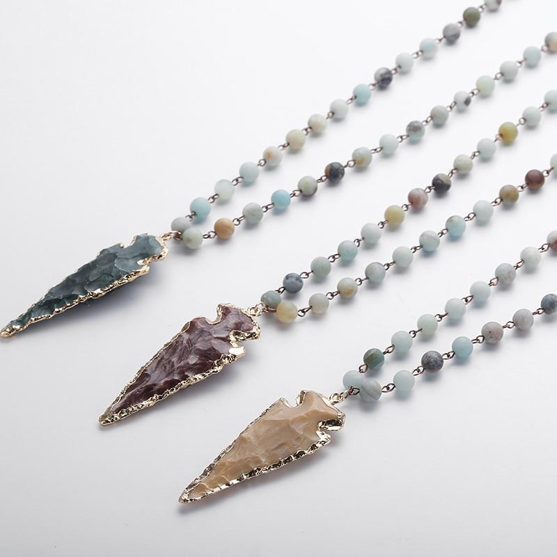 Colliers Femmes Bijoux Accessoires Perles Plume Pendentif Chandail Chaîne