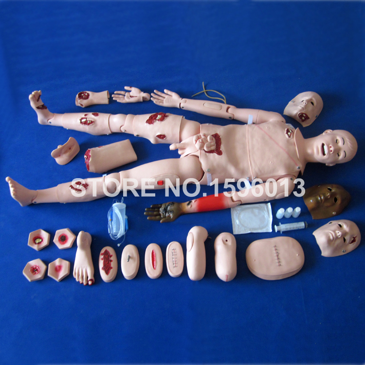 Advanced Trauma Manikin,Full Body Simulation Trauma Manikin,Injuriy Nursing Dummy bix h2400 advanced full function nursing training manikin with blood pressure measure w194