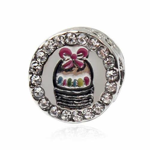 Роскошный небольшой Корона поезд черепаха любовь сердца кристалл шармы Бусины Fit оригинальный Pandora Браслеты для женщин ночной клуб DIY