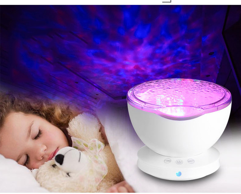 Licht Projector Baby : 2019 night light star sky ocean wave music player projector baby